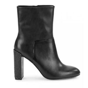 H by Halston Lea Studded Heeled Boots